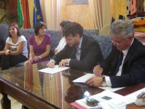 La firma dell'accordo tra Nola e Velletri