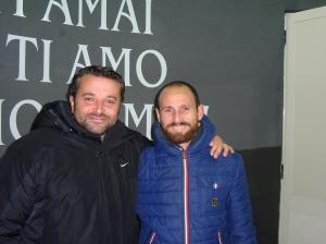 Il ds Sorrentino con Giovanni Tufano