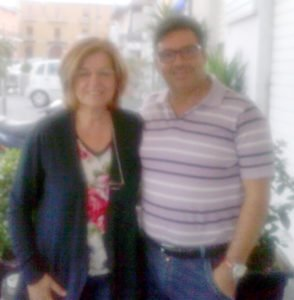 Girolamo Buono con la presidentessa Chiacchiaro
