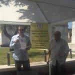 Saverio Galeotalanza durante una manifestazione