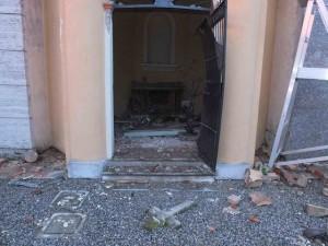 la cappella danneggiata