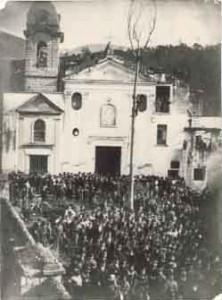 Foto d'epoca del Majo di Baiano (archivio Carmine Montella)
