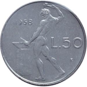 50 lire del 1958: vale fino a 2mila euro