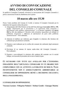 Il manifesto di convocazione del Consiglio comunale