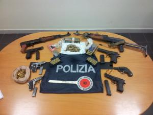 Le armi ritrovate a Marano