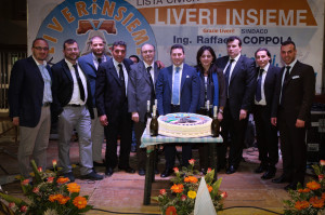 Da sinistra a destra: Giorgio Nappi, Francesco Scala, Antonio Venezia, Saverio Nappi, Antonio Ciccarelli, Raffaele Coppola, Amalia Tarantino, Francesco Tuccillo, Andrea Lanzara, Enzo Lanzara.