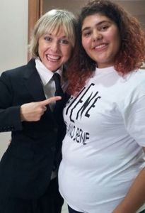 Maria Pia con Nadia Toffa
