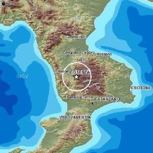 Terremoti: scossa 4.4 in provincia di Cosenza
