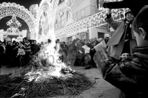 La notte dei falò e delle tammorre a Cicciano (foto Pablo Vecchione)