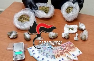Sant'Antonio Abate, 200 grammi di marijuana in casa: arrestato pusher
