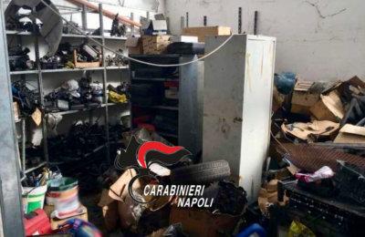 Quarto, gestione illecita di rifiuti: chiusa officina e denunciato titolare