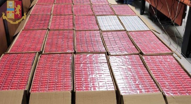 Napoli, sequestrato box auto con 320 chili di sigarette di contrabbando